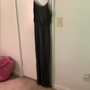 Charcoal gray maxi dress from Lush